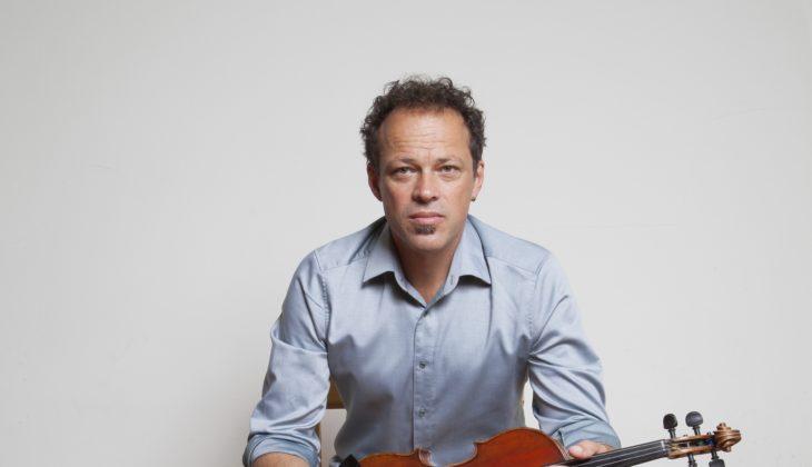 gregor huebner with his violin