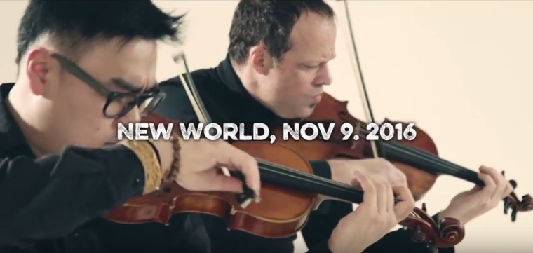 Gregor Huebner's New World Nov. 9. 2016 played by Sirius Quartet