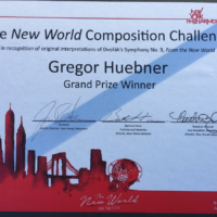 Honored to Receive Grand Prize for NY Philharmonic's New World Initiative Composition Challenge