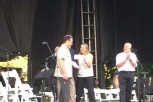 gregor huebner receiving ny phil composition award