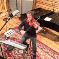Gregor Huebner El Violin Latino in the Recording studio