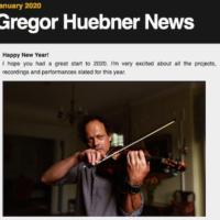Gregor Huebner Jan 2020 News